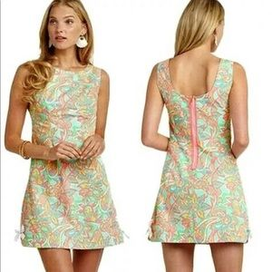 Lilly Pulitzer Delia Dress Sand Bar Make Splash 0